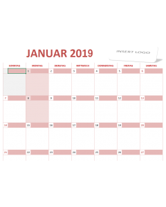 Kalender 2019 - Excel