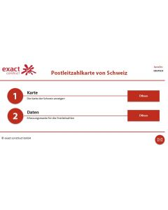Schweizer Karte Excel