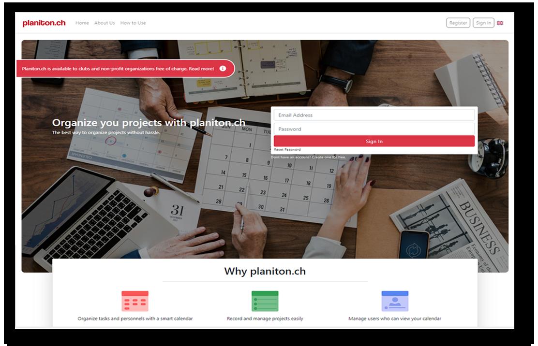 planiton web tool