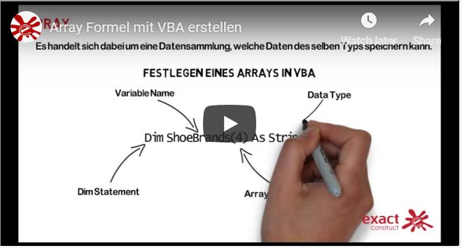 Array Formel mit VBAerstellen