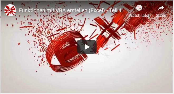 Funktionen mit VBA erstellen